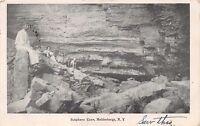 HELDERBERGS NEW YORK PEOPLE & DOGS IN SUTPHENS CAVE POSTCARD 1908