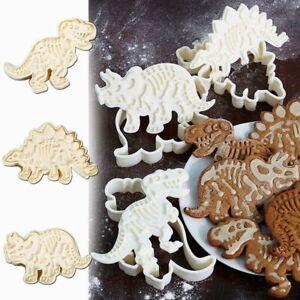 Dinosaur Cookies Cutter Biscuit Embossing Mold Dessert Baking Cake Decor Tool
