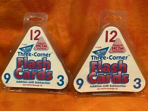 Three-Corner Flash Cards (Addition and Subtraction) Lot Of (2)