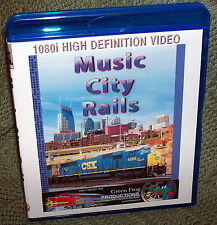"20173 BLU-RAY HD TRAIN VIDEO ""MUSIC CITY RAILS"" NASHVILLE TN."