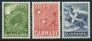 Denmark B15-B17,hinged.Mi 295-297.Danish struggle for liberty & liberation,1947