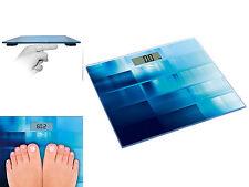 Bascula Digital Baño Ultra Slim Azul de Cristal Templado 6mm y Pantalla LCD 3339