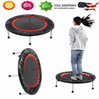 """40""""Round Fold Trampoline Pad Trampolining Replacement Jump Bounce Exercise Black"""