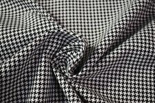 Vintage Black White Houndstooth Tweed Automotive Seat Fabric Upholstery 55
