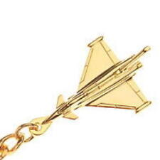 Eurofighter Typhoon Key Ring with Gold Plated finish