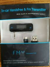 LCD 3.5mm In-car Handsfree FM Transmitter for Androids/Iphones