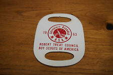 Vintage BSA Leather Neckerchief Slide – 1963 Adventure Roundup Robert Treat Coun