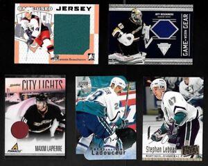 ANAHEIM MIGHTY DUCKS AUTOGRAPH JERSEY NHL HOCKEY CARD SEE LIST