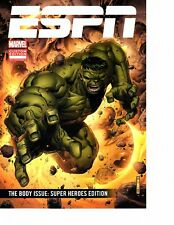 ESPN Marvel Comic Book Custom Edition Body Issue Super Heroes Hulk Iron Man