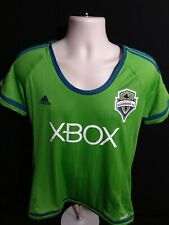 Adidas Green Jersey Shirt Seattle Sounders FC #9 Martins Womens XL