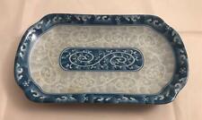 Seokchon Loko Blue Scroll Design Pickle Dish