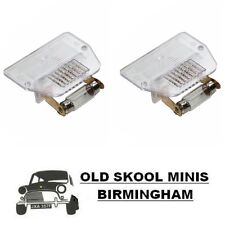 CLASSIC MINI NUMBER PLATE LIGHT LENS PRC1230A PAIR LAMP MK3> INC CLUBMAN 4K10