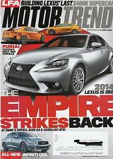 Motor Trend Apr 2013 - Lexus IS 350 - Cadillac ATS - Infiniti Q50 - Acura RLX