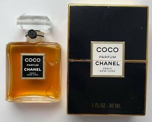 CHANEL COCO PARFUM 30 ml 1 FL OZ VINTAGE SEALED CRYSTAL BOTTLE