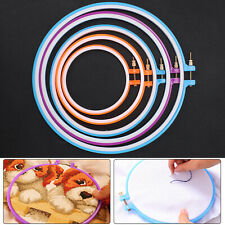 5 Pcs Plastic Embroidery and Cross Stitch Hoop Set Kit 4.9 Inches To 10.6 Inches