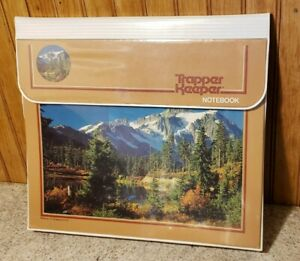 Mead Trapper Keeper Notebook 3 Ring Binder Mountains Trees