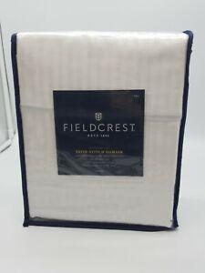Fieldcrest Satin-stitch Damask Sheet Set Full 500 Thread Count True White