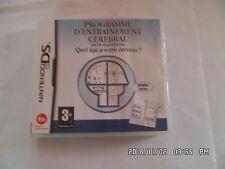 JEU NINTENDO DS  3DS : programme d'entraînement cérébral du Dr Kawashima J16