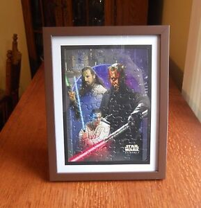 DARTH MAUL  STAR WARS EPISODE I MINI- 50 PIECE PUZZLE  Assembled and Framed