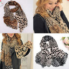 2Colors New Beauty Women's Long Soft Wrap Shawl Silk Leopard Chiffon Scarf Shawl