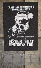 Earth First Liberation Front Patch Punk Vegan Environmental Nature ALF ELF Green