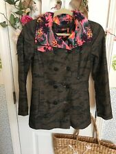 Hurley Camo And Tropical Womens Jacket Size Small