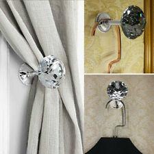 4PCS Warge Crystal Curtain Tie Back Hook Tassel Holder Wall Mounted Hanger G9C