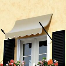 """Awntech 3.5' New Orleans Spear Arm Awning, 44"""" x 24"""", Tan Color"""
