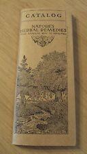 "1933 INDIANA BOTANIC Illustrated Catalog~""NATURE'S HERBAL REMEDIES""~"