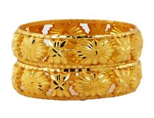 Indian Bridal Bangles  Set Wedding Jewelry Bollywood Gold Plated Ethnic 2.8 BS98