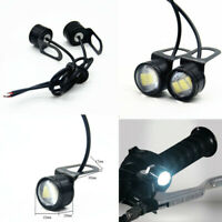 2Pcs 12V Motorcycle Headlight Spotlight LED Eagle Eye Lamp Daytime Running Light