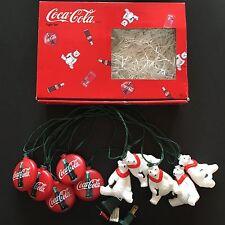 Coca Cola Coke Christmas POLAR BEAR Collectable Light Set