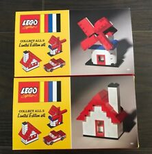 Lego 60th Anniversary Limited Edition House 4000028 And Windmill 4000029 Bundle