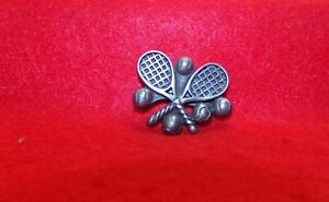 TENNIS RACKETS AND BALLS PEWTER REFRIGERATOR MAGNET