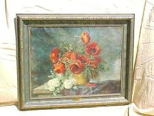 Original Oil Painting MAX STRECKENBACH POPPIES IN BLOOM
