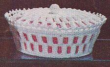 Vintage Crochet PATTERN Milk Glass Covered Dish Decor
