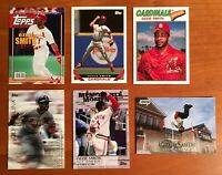 OZZIE SMITH St. Louis Cardinals Base & Inserts HOF - 6 Card Modern Lot