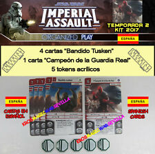 STAR WARS IMPERIAL ASSAULT 2017 T2 KIT ESPAÑOL - Guardia real, Bandido + Tokens