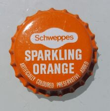SCHWEPPES SPARKLING ORANGE Unused Bottle Cap 1970's Soft Drink