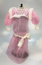 Barbie Doll Clothing: 1984 Heart Family Mom pink Victorian Dress