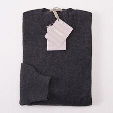 NWT $800 CRUCIANI Charcoal Gray 100% Cashmere Sweater XXL (Eu 56) Crewneck