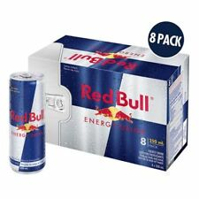 Red Bull 8x250ml Boisson Énergisante,Energy Drink,Canette,Taurine,Caféine,Can