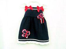 Summer Dress Girls Size 18 months Red White Blue Sophie Rose Seersucker NWT
