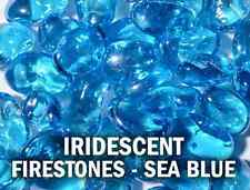 Blue Raspberry (Sea Blue) Iridescent Fire Stones Fire Glass
