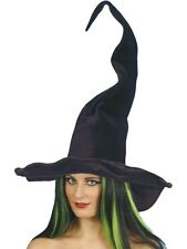SALE Black Twisty Witch Hat Ladies Halloween Fancy Dress Costume Party Accessory