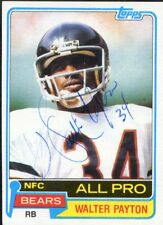 WALTER PAYTON: 1981 Topps Autographed