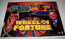 STERN WHEEL OF FORTUNE NOS ORIG PINBALL MACHINE TRANSLITE BACKGLASS SHEET 2007
