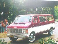 1980 DODGE SPORTSMAN VAN Brochure w/Color Chart: B100,B200,B300,MAXI,B-300,200,