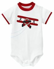 NWT GYMBOREE MINI AVIATOR WHITE & RED AIRPLANE BODYSUIT 0-3 MO Free US Shipping