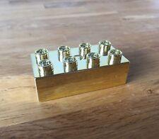LEGO Shiny Gold Duplo Brick - Danish Employee Anniversary Gift - FREE PP